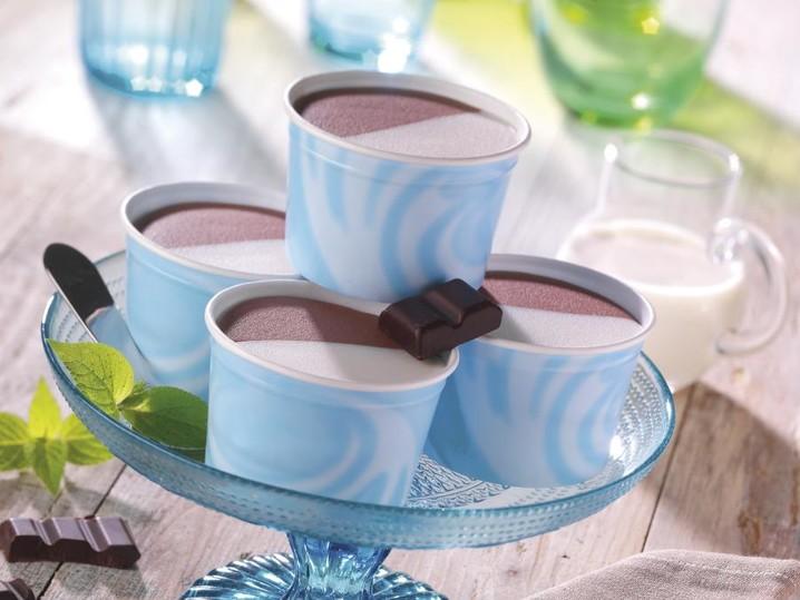 Coppette panna cioccolato