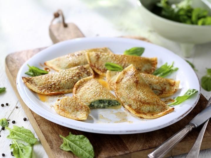 Crepes spinaci e formaggi