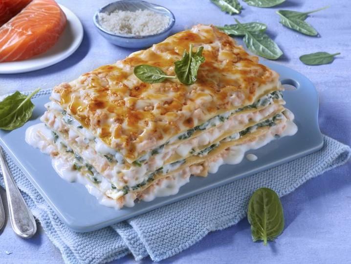 Lasagne salmone e spinaci