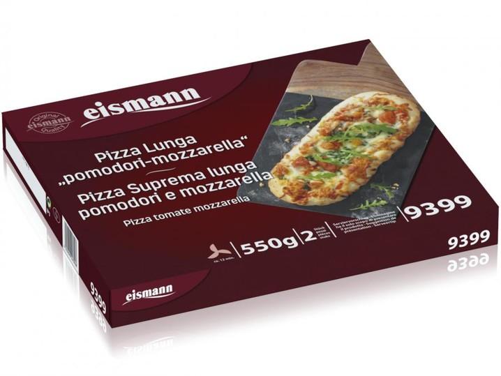Pizza Suprema lunga pomodori e mozzarella